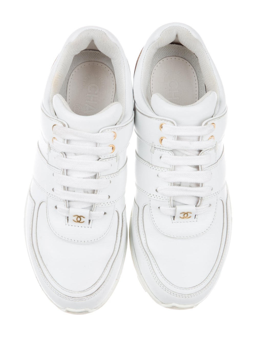 Chanel CC Low-Top Sneakers Sneakers White - image 3