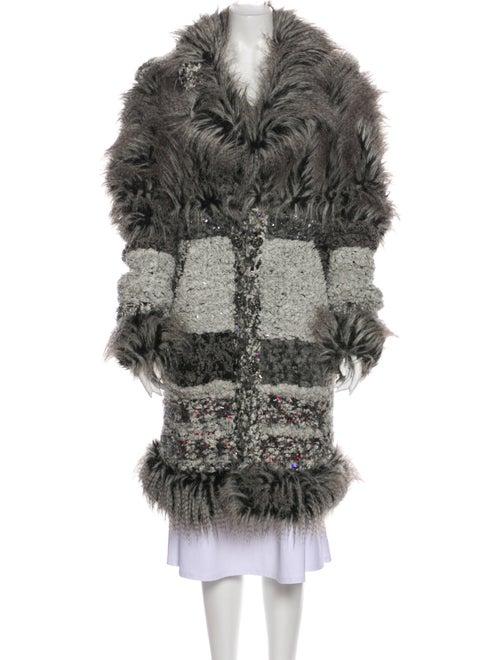 Chanel 2010 Faux Fur Coat Grey