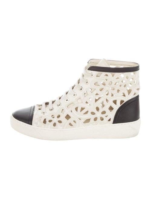 Chanel Interlocking CC Logo Leather Sneakers