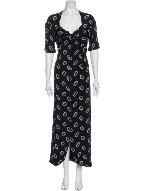 Chanel Vintage Long Dress Blue - image 1