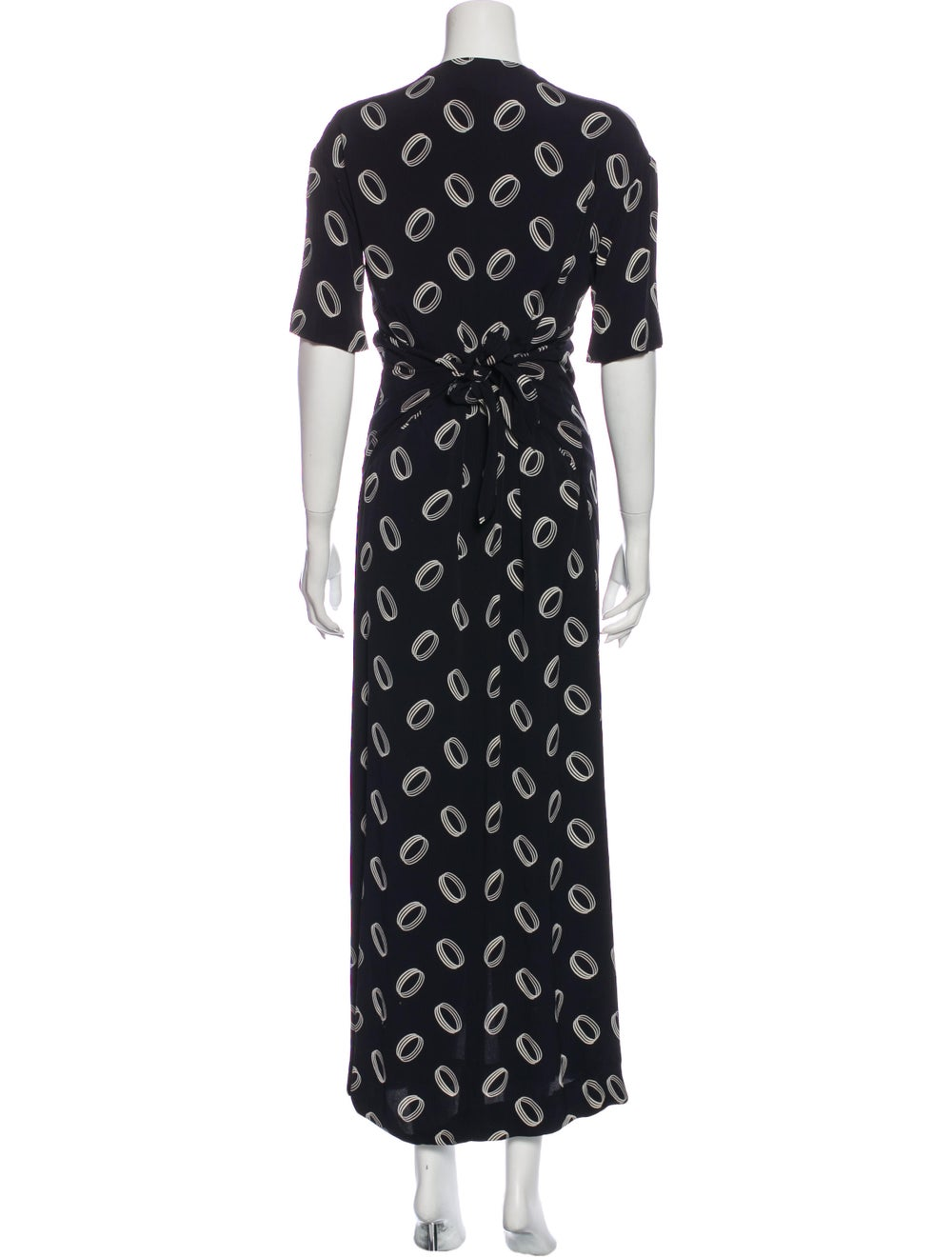 Chanel Vintage Long Dress Blue - image 3