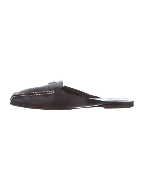 Chanel CC Leather Mules Leather Mules Black