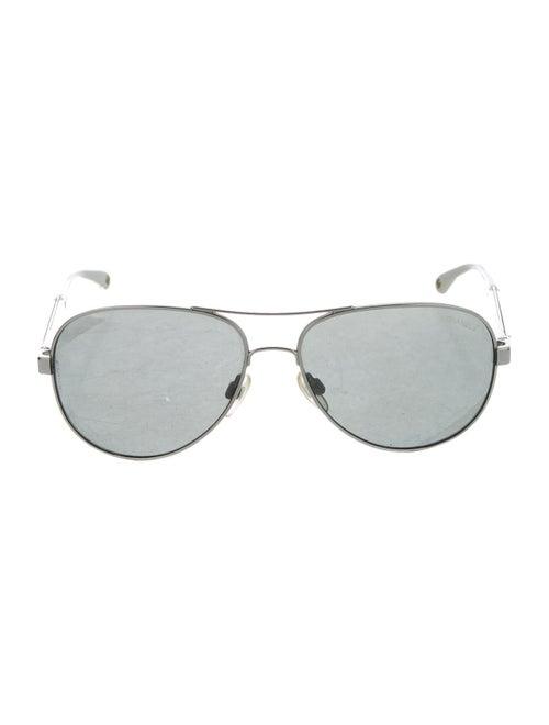 Chanel Miroir Aviator Sunglasses Silver
