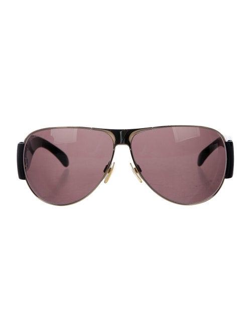 Chanel CC Aviator Sunglasses Gold