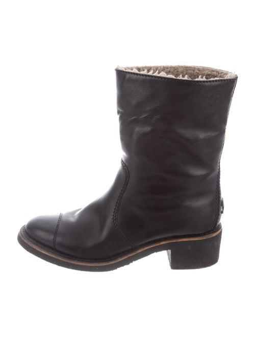 Chanel Calfskin Moto Boots Black