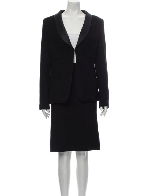 Chanel 2006 Tweed Skirt Suit Skirt Suit Black