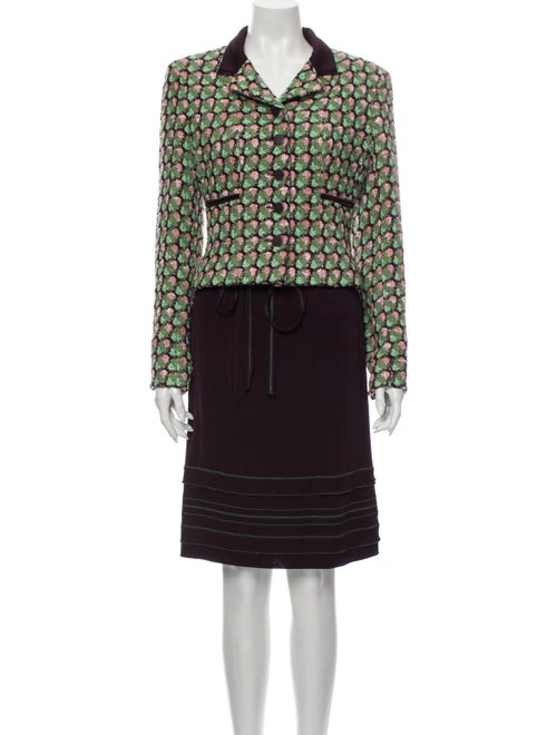 Chanel 2002 Tweed Skirt Suit Skirt Suit Green