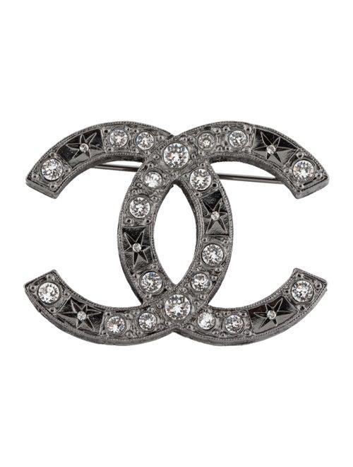 Chanel Strass CC Brooch