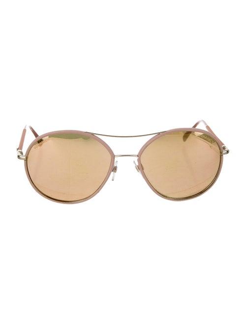 Chanel Polarized Aviator Sunglasses gold