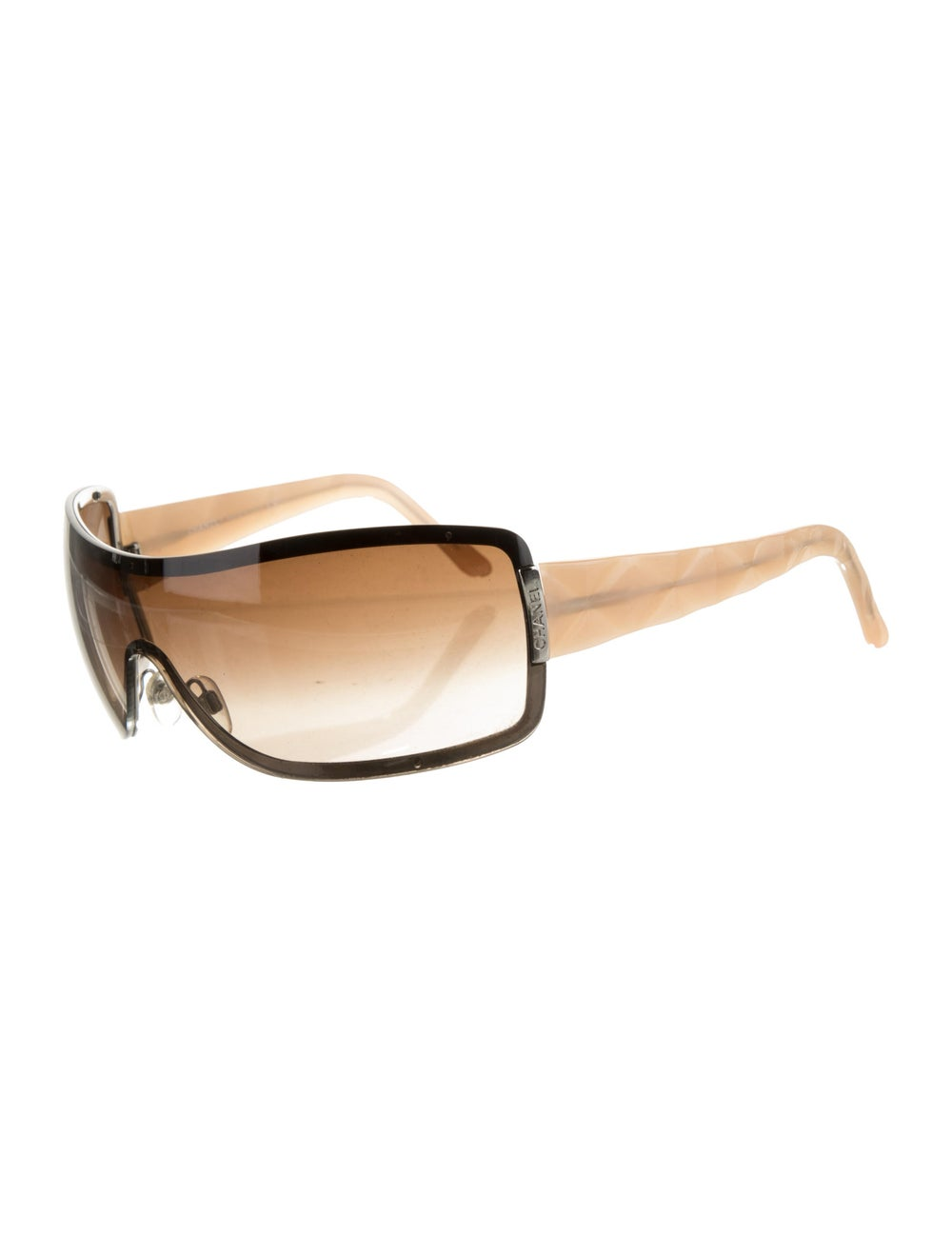 Chanel Quilted Shield Sunglasses Champagne - image 2