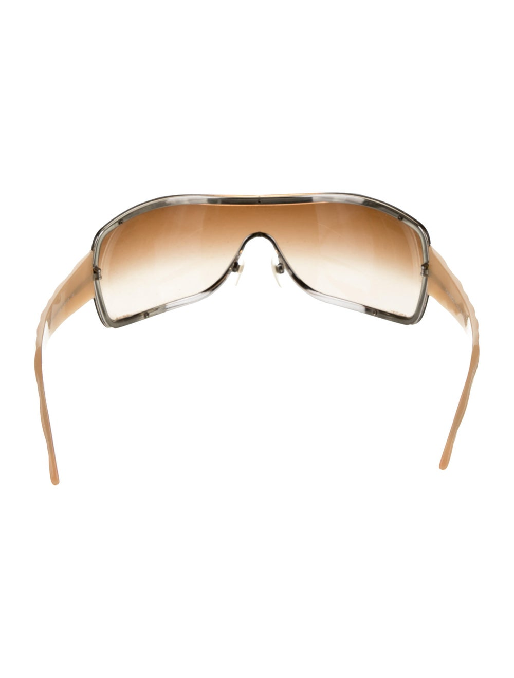 Chanel Quilted Shield Sunglasses Champagne - image 3