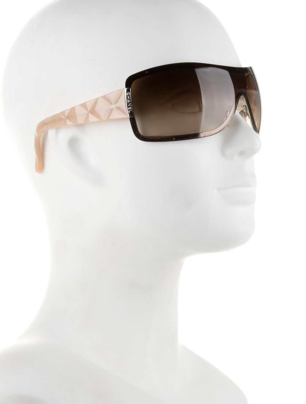 Chanel Quilted Shield Sunglasses Champagne - image 4
