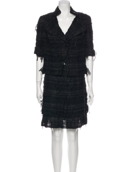 Chanel 2005 Skirt Suit Black