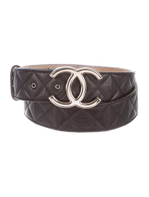 Chanel CC Quilted Belt Black