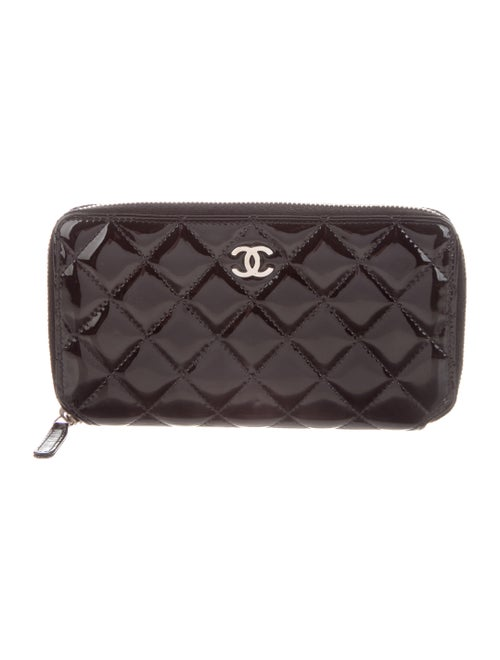 Chanel Patent L-Gusset Wallet Black