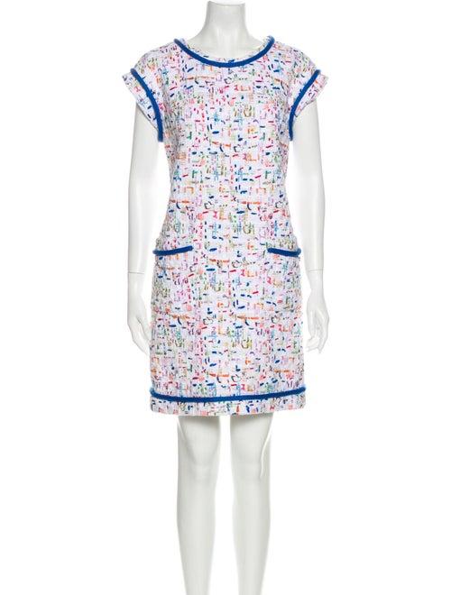 Chanel Tweed Mini Dress White