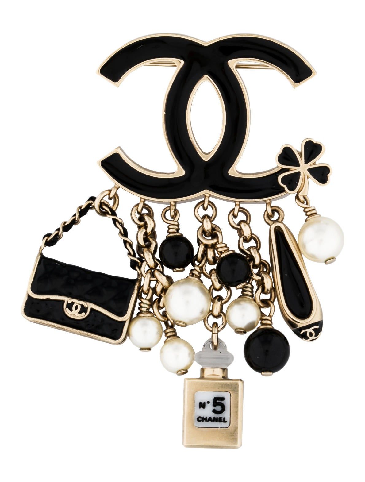 83e53792690 Chanel CC Charm Brooch - Brooches - CHA51301 | The RealReal