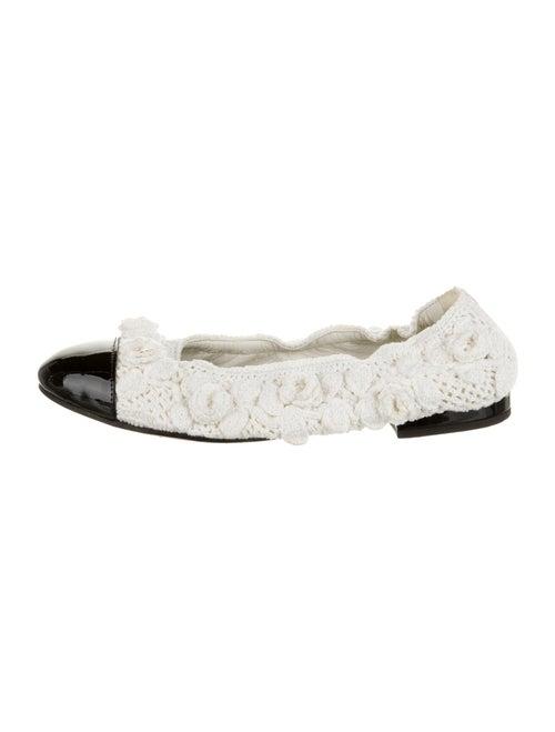 Chanel Flats White