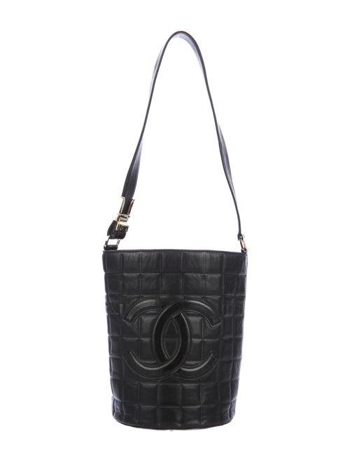 Chanel Chocolate Bar Bucket Bag Black