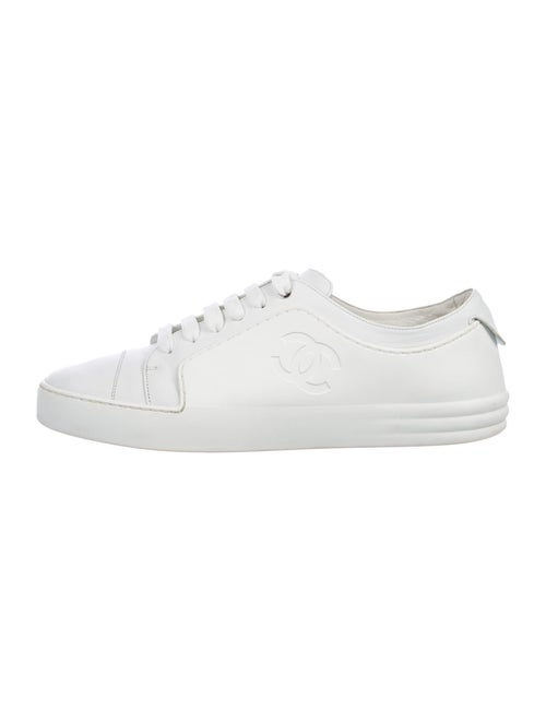Chanel Leather Sneakers White