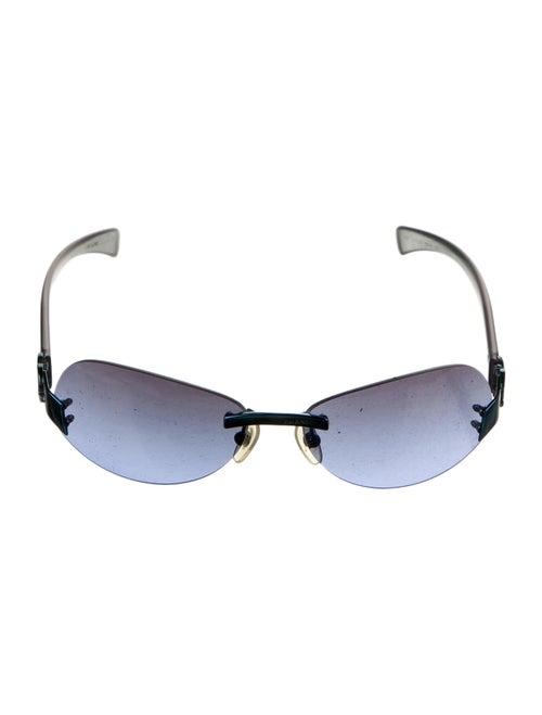 Chanel Rimless CC Sunglasses Blue