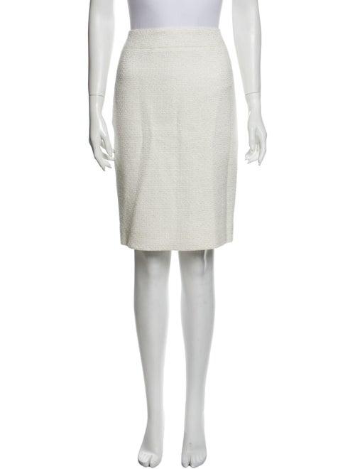 Chanel 2009 Knee-Length Skirt Metallic