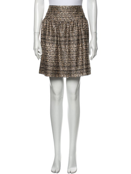 Chanel 2005 Mini Skirt Metallic