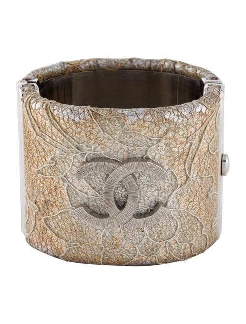 Chanel Lace CC Bracelet Silver