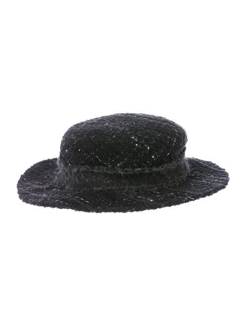 Chanel Fantasy Tweed Boater Hat multicolor
