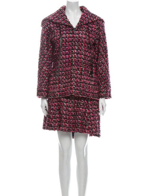 Chanel 2013 Tweed Pattern Skirt Set Pink