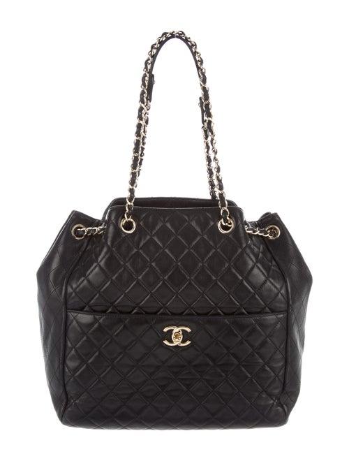 Chanel Drawstring Bucket Bag Black