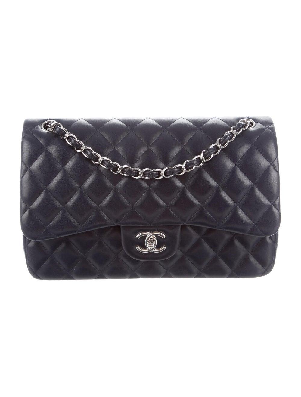 Chanel Classic Jumbo Double Flap Bag Navy - image 1