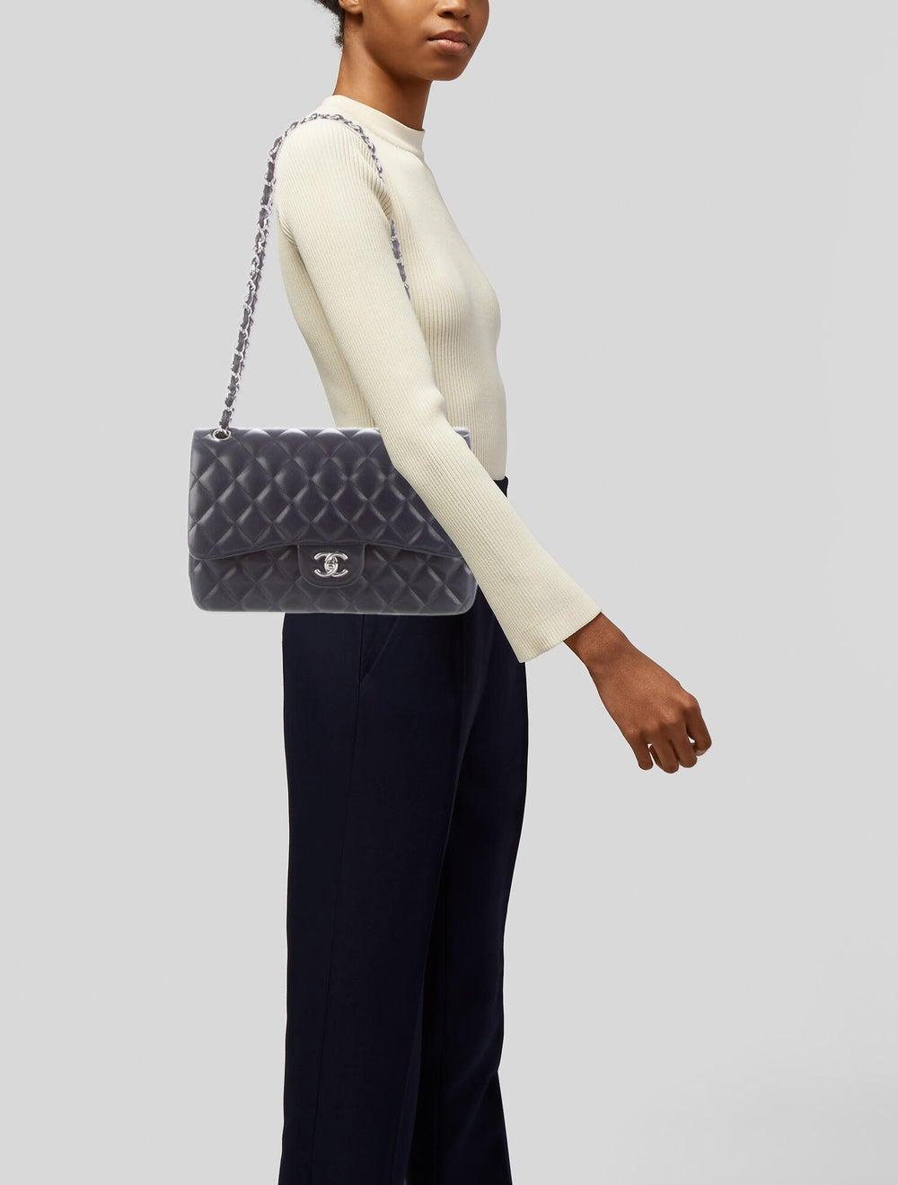 Chanel Classic Jumbo Double Flap Bag Navy - image 2