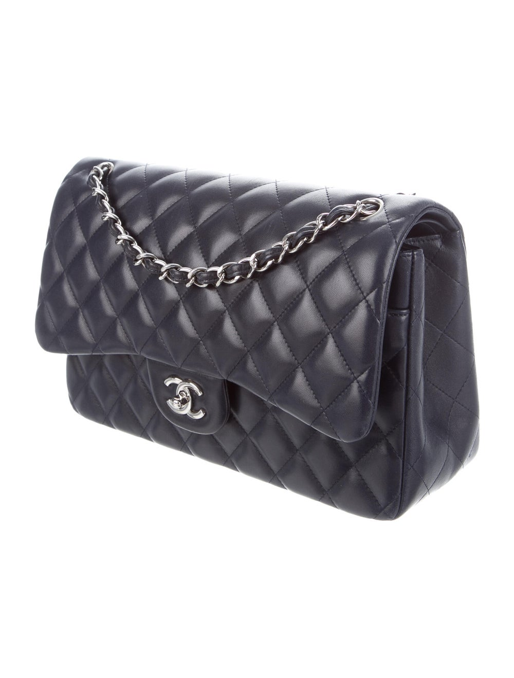 Chanel Classic Jumbo Double Flap Bag Navy - image 3