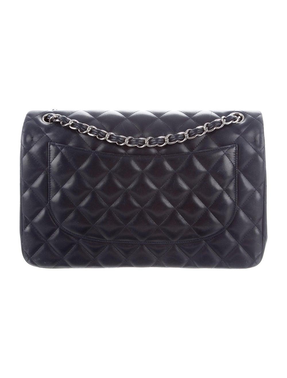 Chanel Classic Jumbo Double Flap Bag Navy - image 4