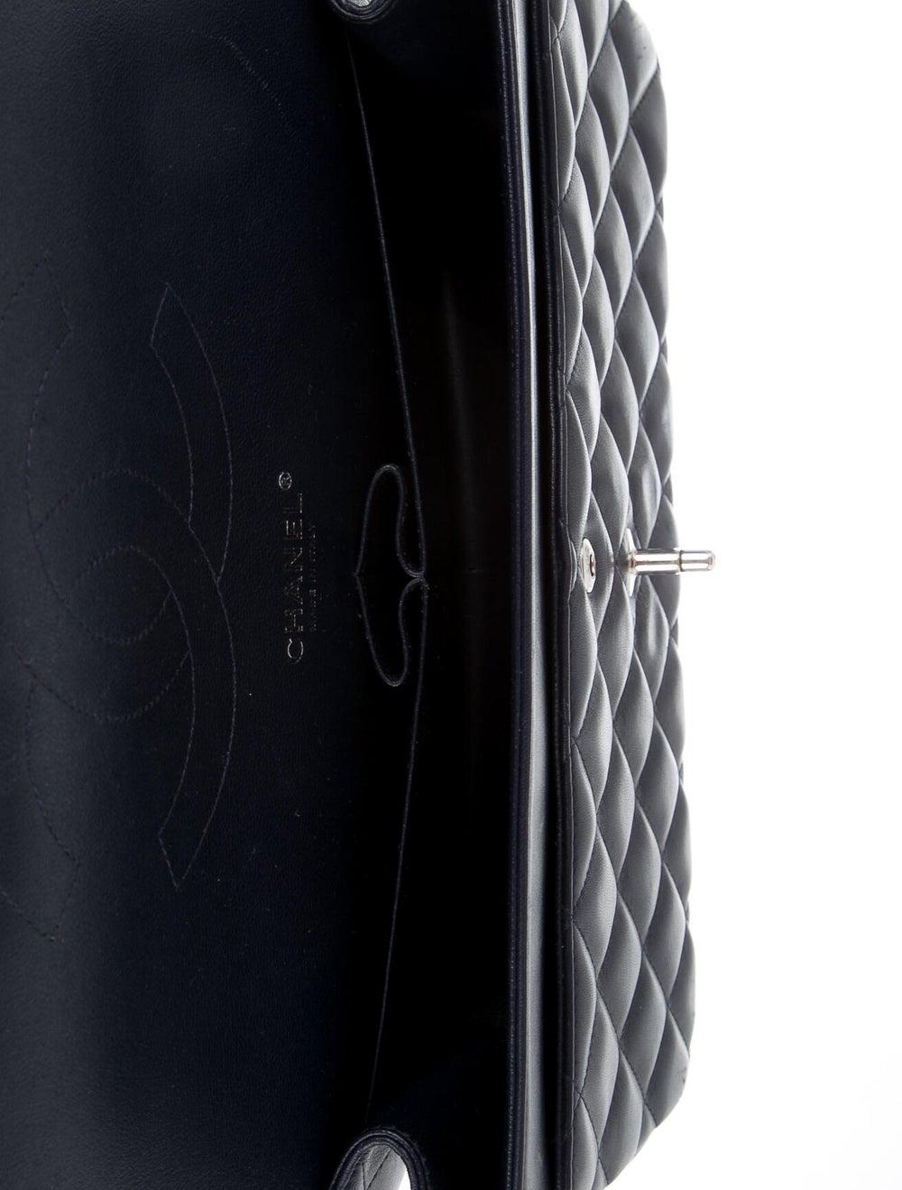 Chanel Classic Jumbo Double Flap Bag Navy - image 5