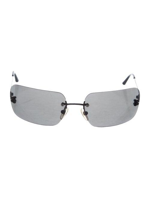 Chanel Rimless CC Sunglasses Black