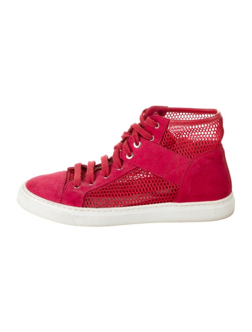 Chanel Suede Sneakers Red