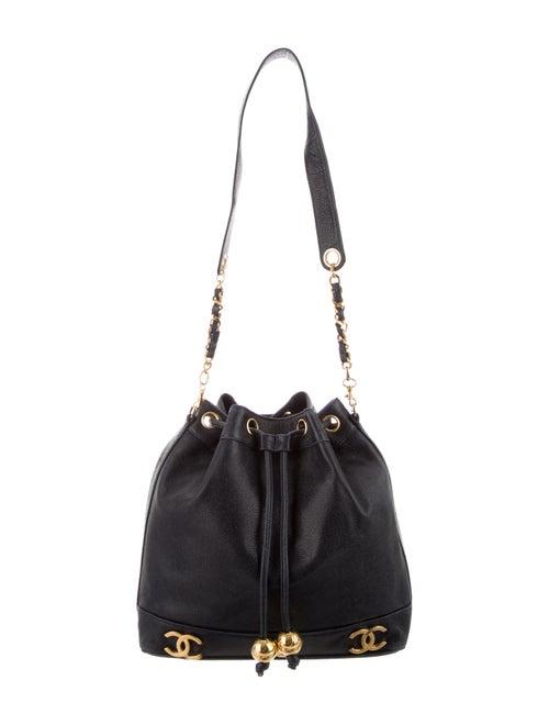 Chanel Vintage CC Bucket Bag Blue