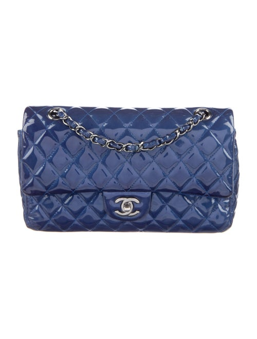 Chanel Medium Patent Flap Bag Blue - image 1