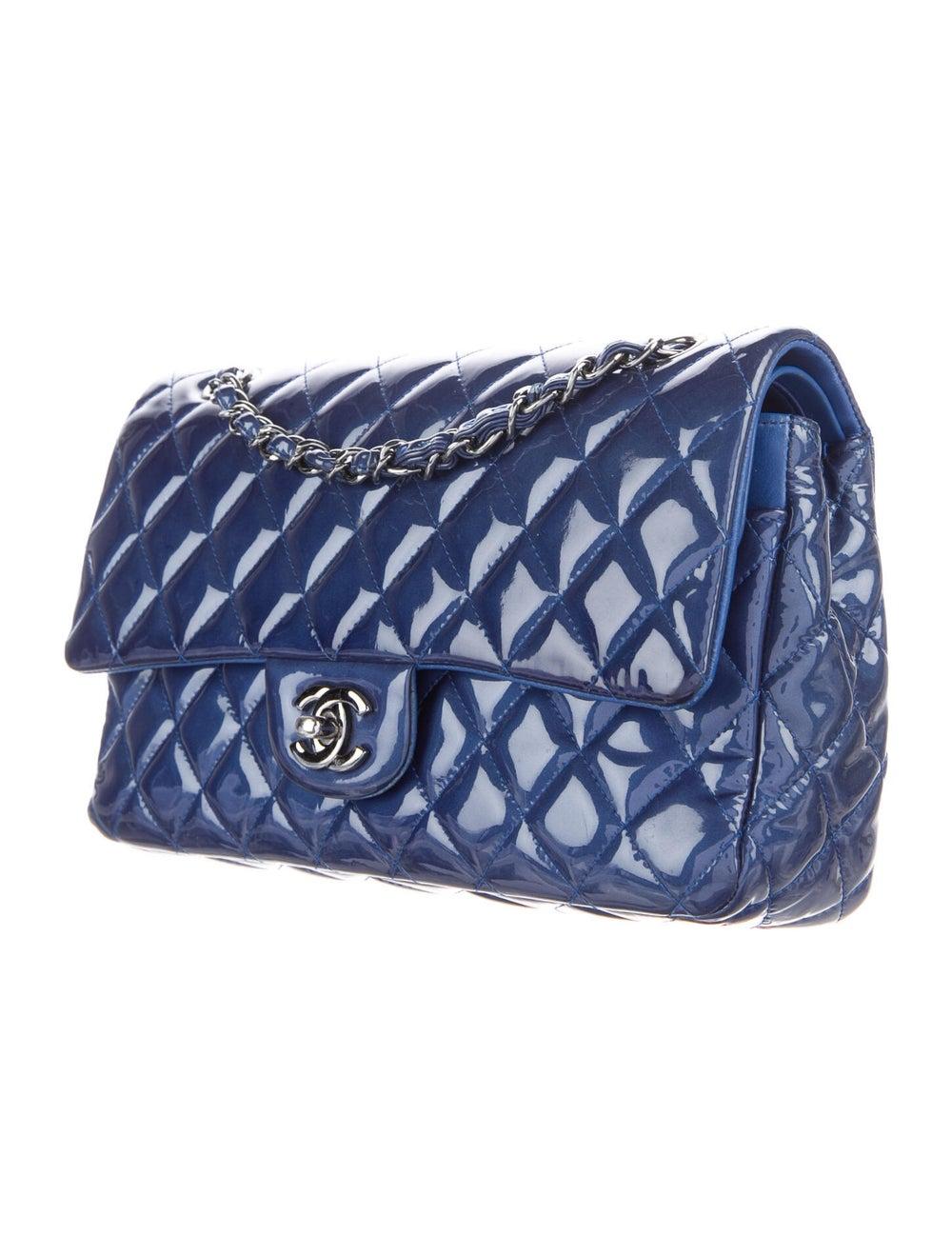 Chanel Medium Patent Flap Bag Blue - image 3