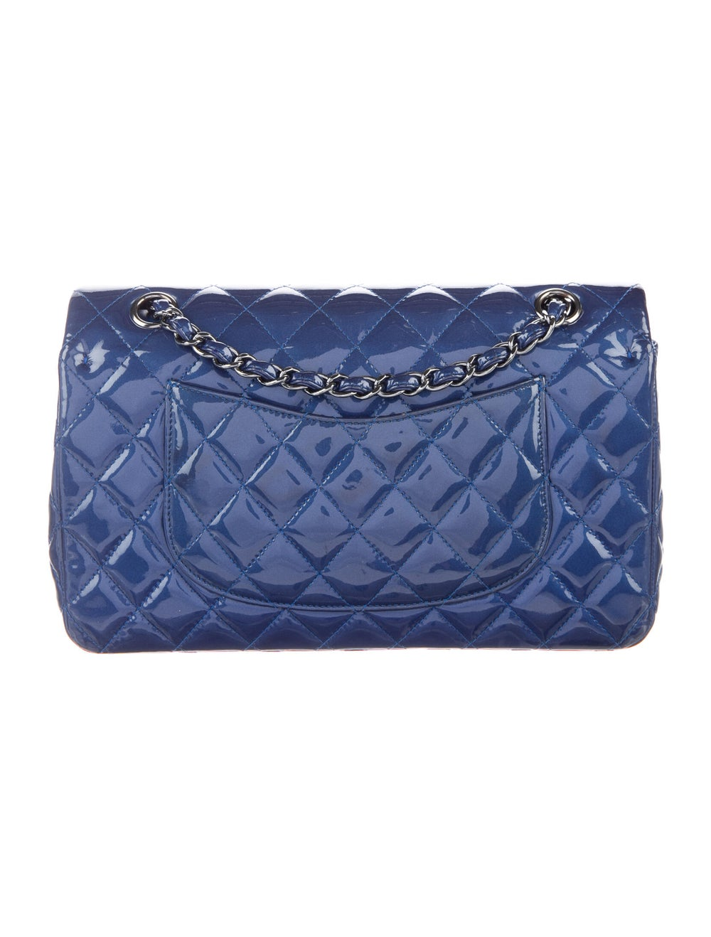 Chanel Medium Patent Flap Bag Blue - image 4