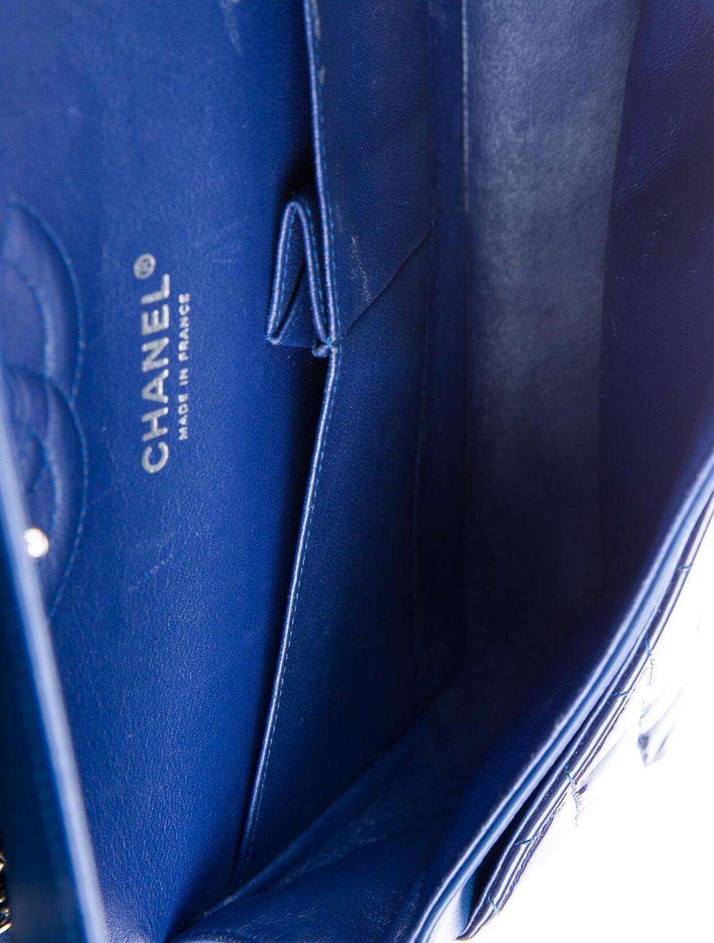 Chanel Medium Patent Flap Bag Blue - image 5