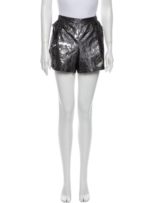 Chanel 2010 Mini Shorts Silver