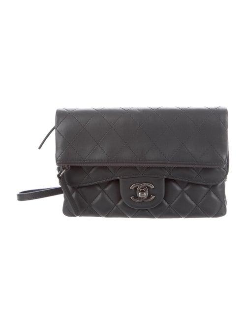 Chanel Flap Crossbody Bag Grey