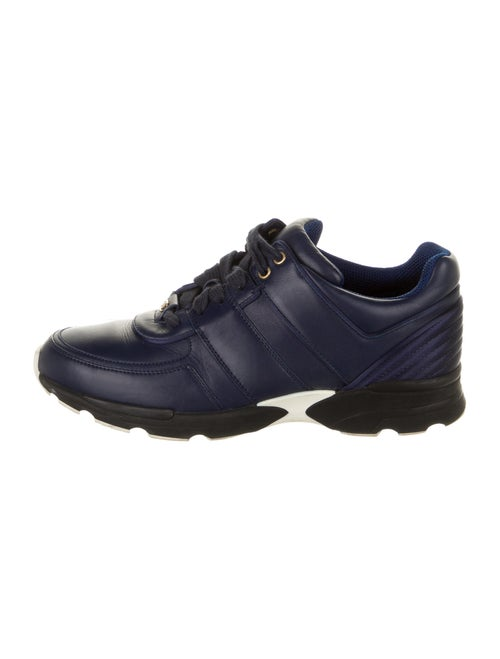 Chanel Leather Sneakers Blue