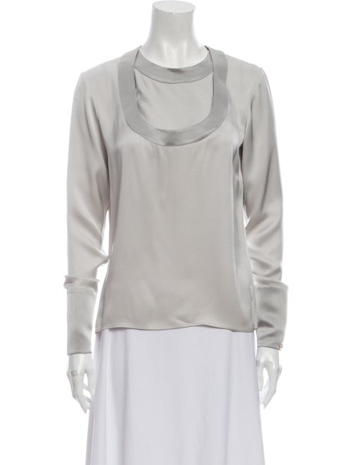 Chanel 2012 Silk Blouse Grey
