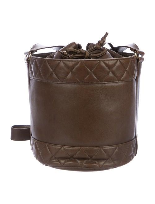 Chanel Vintage CC Bucket Bag Brown