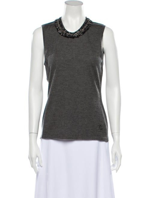 Chanel 2010 Cashmere Top Grey