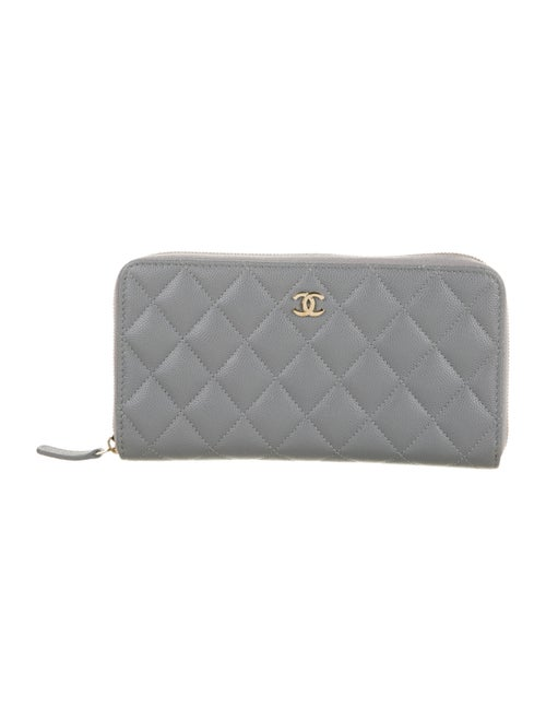 Chanel 2020 L-Gusset Continental Wallet Grey